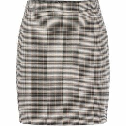 Vero Moda Kamma Knee Length Checked Skirt