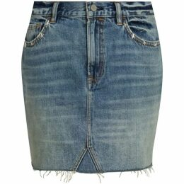 All Saints Star Denim Skirt