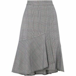 Linea Multi Check Tailored Skirt