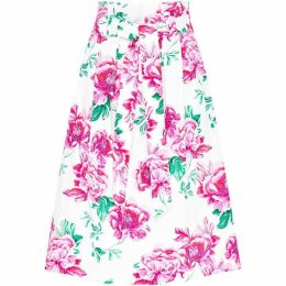Hallhuber Paper Bag Skirt With Floral Print
