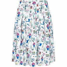 Yumi Plant Print Skirt