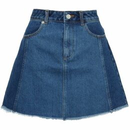French Connection Losa Denim Mini A Line Skirt