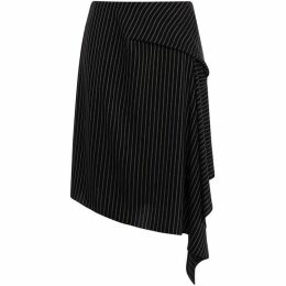 Karen Millen Pin-Stripe Draped Skirt