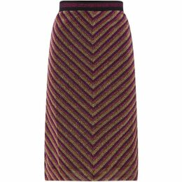 Sofie Schnoor Lurex stripe skirt