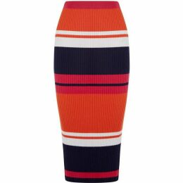 Oasis Stripe knitted skirt