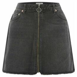 Free People Mini Zip It Up Denim Skirt