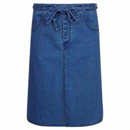 Yumi Tie Waist Denim Skirt