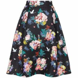 Yumi Botanical Pattern Jacquard Skirt