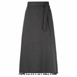 James Lakeland Pompom Hem Midi Skirt
