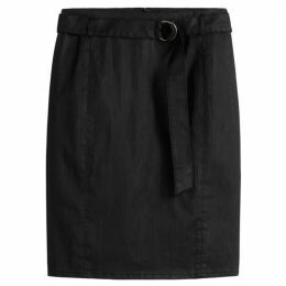 Sandwich Pin Stripe Coated Twill Skirt