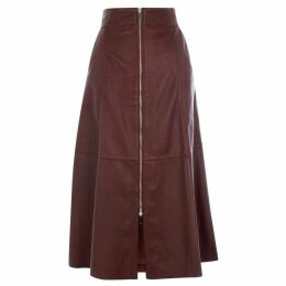 Karen Millen Midi Leather Skirt