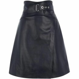 Karen Millen High Waisted Leather Skirt
