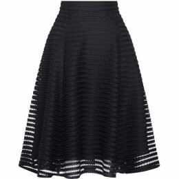Yumi Striped Fishnet Skater Skirt
