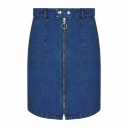 Yumi Ring Zip Denim Skirt