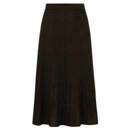Oasis Black Amber Pleat Skirt