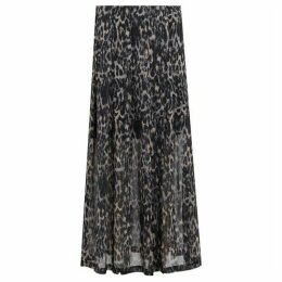 All Saints Drea Leopard Skirt