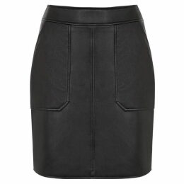 Warehouse Pocket Detail Pu Skirt
