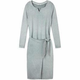 Sandwich Faux Wrap Skirt Jersey Dress