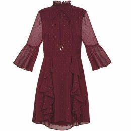 Ted Baker Haleat Dobby Ruffle Skirt Dress