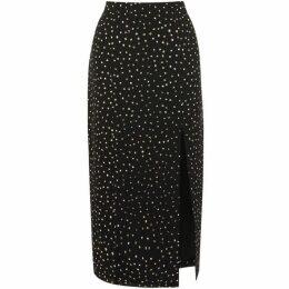 Oasis Glitter Spot Column Midi Skirt