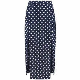 Oasis Spot Print Split Midi Skirt