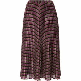 Whistles Stripe Sparkle Pleated Skirt