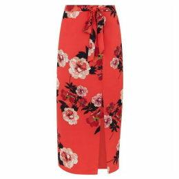 Oasis Scarf Floral Column Skirt
