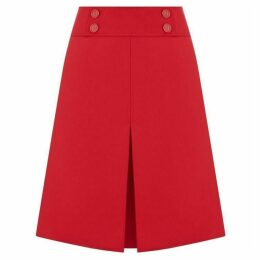 Oasis Button Detail Skirt