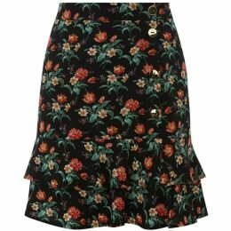 Oasis Willow Ditsy Tiered Skirt