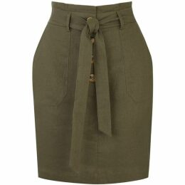 Oasis Belted Paperbag Skirt