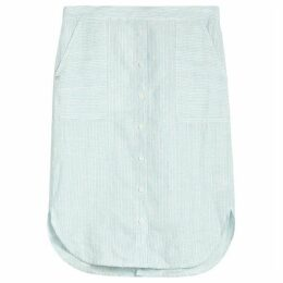 Sandwich Stripe Linen Skirt
