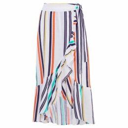 Karen Millen Striped Wrap Skirt
