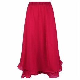James Lakeland Wave Hem Midi Skirt