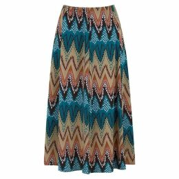 Havren Dawn Ikat Flared Skirt