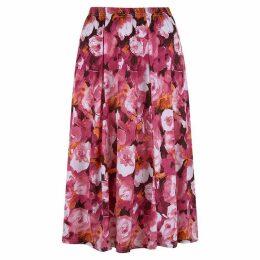 Havren Dahlia Print Flared Skirt