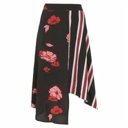 Mint Velvet Elyse Print Striped Midi Skirt