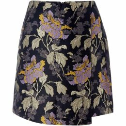 Vero Moda Floral Jaquard High Waisted Skirt