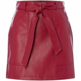 Vero Moda Faux Leather Mini Skirt