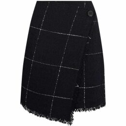 Warehouse Windowpane Check Skirt