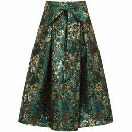 HotSquash Brocade Midi Skirt in Clever Fabric
