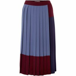 Boss Midesa pleated coloure block skirt