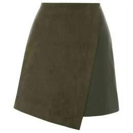 Oasis Faux Suede Patched Mini Skirt
