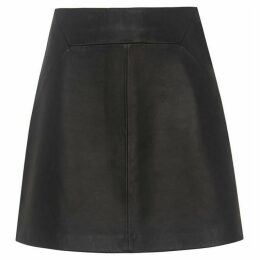 Whistles Leather A Line Skirt