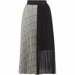 Marella Checked pleated midi skirt