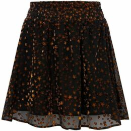 Another Label Burn Out Star Skirt
