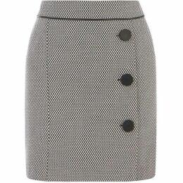 Oasis Mono Jacquard Skirt