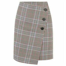 Warehouse Check Pelmet Mini Skirt