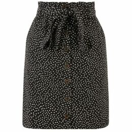 Oasis Crushed Spot Paperbag Skirt