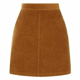 Warehouse Cord A Line Skirt