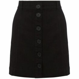 Oasis Black Button Through Skirt